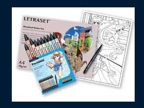 Studio Schopman Supplies Letraset Promarker Manga Starter Pack 13 34